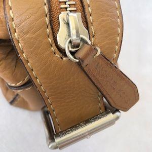 Michael Kors Bags - Michael Kors Cream Tan Leather Satchel Handbag
